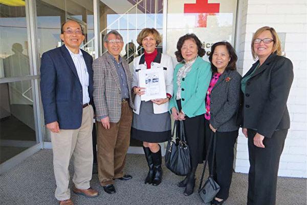 台美公民协会洛杉矶分会和柑县分会在12月初发起捐款救灾。(台美公民协会提供)