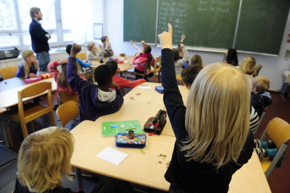 德国一小学的课堂上 (JOHN MACDOUGALL/AFP/Getty Images)