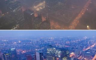雾霾蔓延 巨大污染带斜穿1/3中国  近半城市严重污染