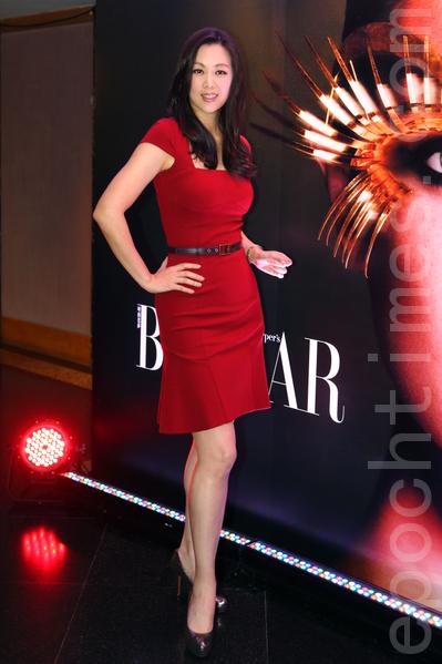 Linda出席时尚杂志颁奖典礼。(摄影:潘在殊/大纪元)