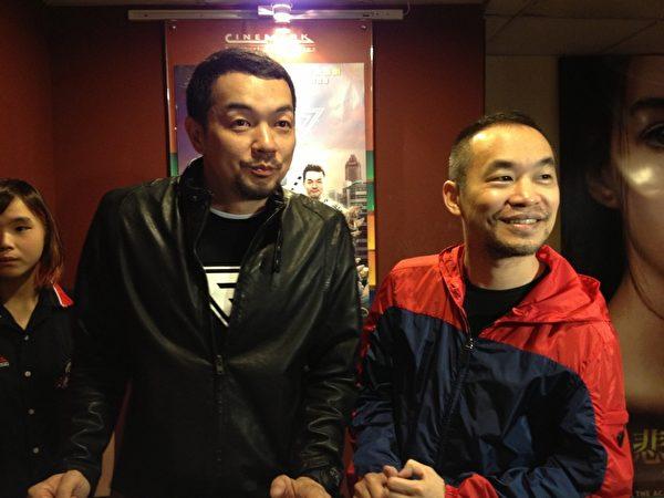 两人在台北的影城化身一日店长全力催票,现场吸引不少粉丝驻足拍照。(图/牵猴子提供)