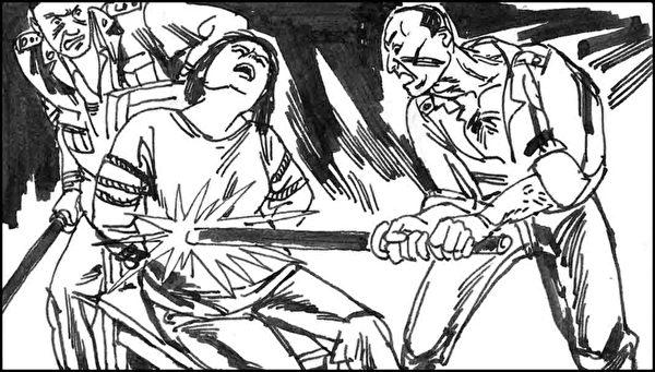 马三家女子劳教对法轮功学员施酷刑。(明慧网)