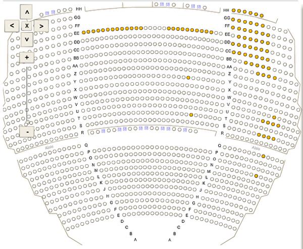 截止1月26日下午5时,神韵周六下午场(2月2日)仅剩1张200美元票(T排123座位)。(肯尼迪中心售票系统截图)