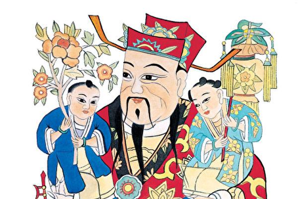 古时人们在中国新年到来前夕,在室内贴年画,户上贴门神。年画包含对众神及祖先的敬意,祈福避邪的意愿。(大纪元资料图片)