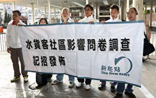 """香港民间组织""""新起点""""调查发现,有多达八成市民不满水货客阻塞街道。(摄影:潘在殊/大纪元)"""