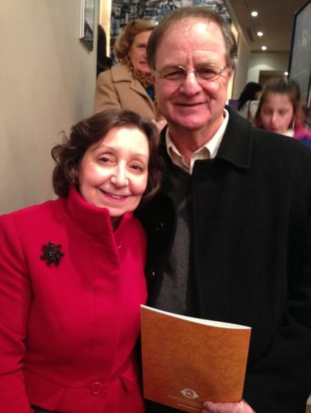 """芭蕾舞教师Jane Shelton女士与先生Curtis Shelton观看神韵后表示﹕""""我希望就这么一直看下去!""""(摄影﹕秦紫寰∕大纪元)"""
