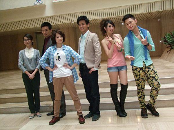 左起:张诗盈、李沛旭、简嫚书、陈晓东、阿喜、杨昇达出席新剧《爱情急整室》开拍记者会。(图/中视提供)