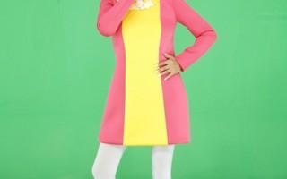主持人蓝心湄为《女人我最大》拍摄节目新片头。(图/联意制作提供)