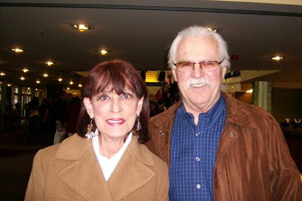 贷款公司老板George Hagen和女友Dian Dickson。(摄影﹕于丽丽/大纪元)