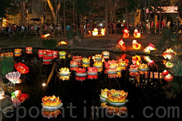 青衣公園內璀璨耀目的綵燈(攝影:潘在殊/大紀元)