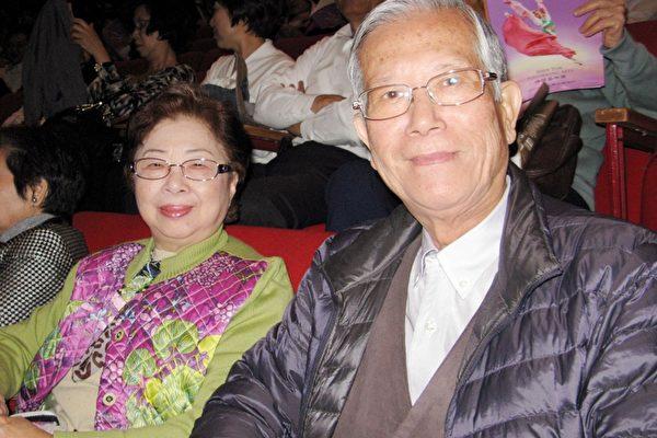 祭祀公业刘学悟管理会管理人刘荣基与妻子。(摄影:黄采文/大纪元)