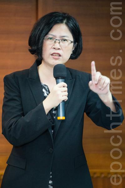 台湾法轮功人权律师朱婉琪。(摄影:陈柏州/大纪元)