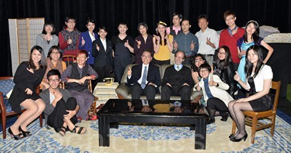 中央大學「文學三戲學生演劇季」登場,是中英法三系九個月下來嘔心瀝血之作(攝影:陳建霖/大紀元)
