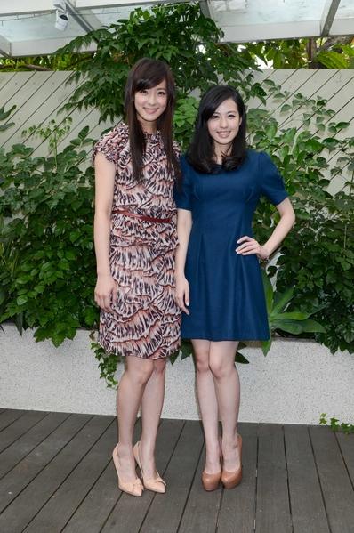 賴雅妍(左)、梁靖。(圖/三立提供)