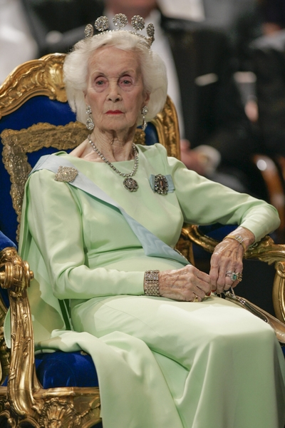 英國威爾斯出身的瑞典莉蓮王妃10日以97高齡在睡夢中安詳離世。 (SCANPIX/HENRIK MONTGOMERY/ AFP)