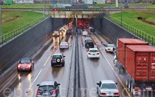 連通列治文、素里與三角洲市的交通要道馬西隧道。(景浩/大紀元)