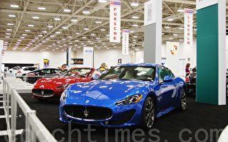 顶级豪华车,包括Aston Martin、Bentley及Rolls-Royce等名牌。(摄影:乐原/大纪元)