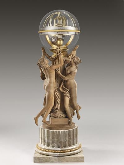 时间之舞 ,钟表让. 巴蒂斯特.里帕特(1727-1802),雕塑克洛德‧米歇尔.克劳帝那(1738-1814)。(图由弗里克美术收藏馆提供)