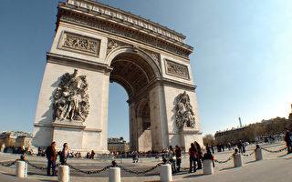 法国总统大选将于明日(5月7日)进行第二轮投票,将选出历史上首位女总统?或者史上最年轻的总统?图为法国地标凯旋门。(JEAN AYISSI/AFP)