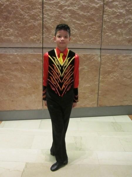 姚舒瀚代表台北參加第43屆世界盃愛爾蘭舞蹈大賽。(姚和成提供)