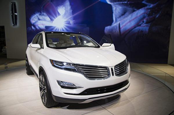 2013纽约国际车展 LINCOLN(摄影:戴兵/大纪元)