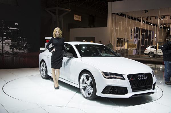2013纽约国际车展 奥迪 Audi RS7(摄影:戴兵/大纪元)