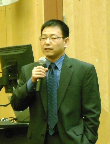 全球网络自由联盟的联合创办者之一David Tian博士(摄影:王宇新/大纪元)