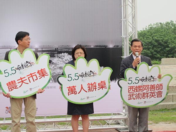 雲林同鄉會總會秘書長蔡慶輝(右)表示將邀請國內外的武術精英參與「阿善師武術群英會」。(攝影:廖素貞/大紀元)