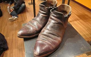 袖珍雕塑展  木雕皮鞋比真的还真