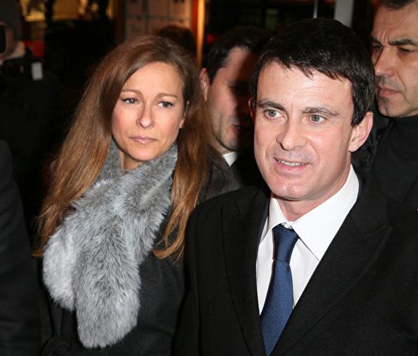 法國內政部長瓦爾斯(Manuel Valls)和夫人(Anne Gravoin)(圖片來源:Getty images)