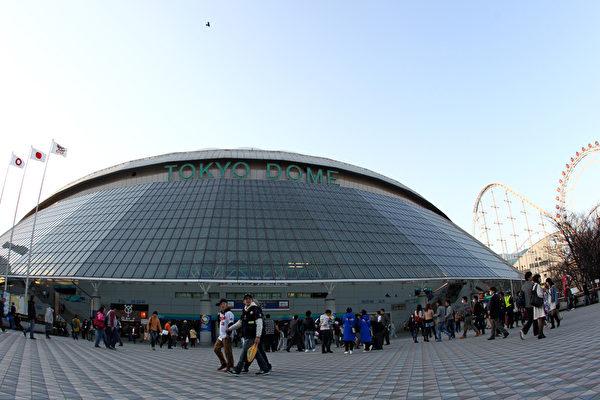 日本棒球队东京巨人对的大本--东京巨蛋体育馆。(Getty Images)