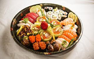 生魚片、壽司混合拼盤。(攝影:愛德華/大紀元)