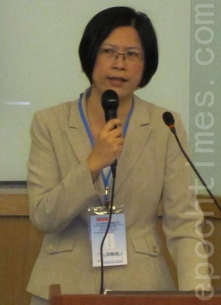 台灣法輪功人權律師團發言人朱婉琪。(攝影:鍾元/大紀元)