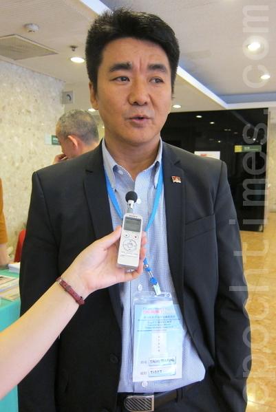 在台藏人福利協會顧問札西慈仁。(攝影:鍾元/大紀元)