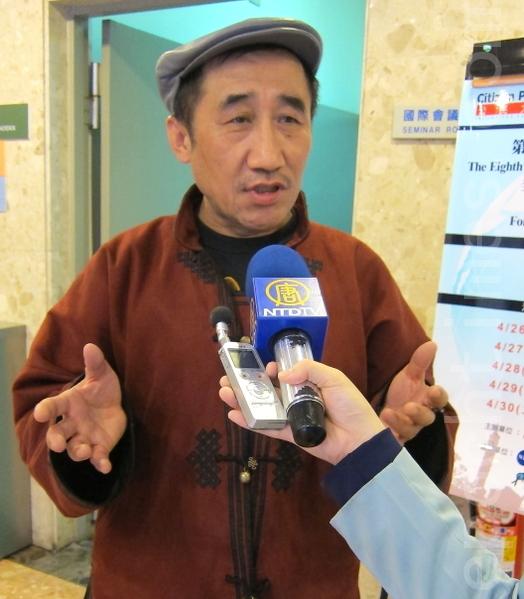 內蒙古人民黨主席席海明。(攝影:鍾元/大紀元)