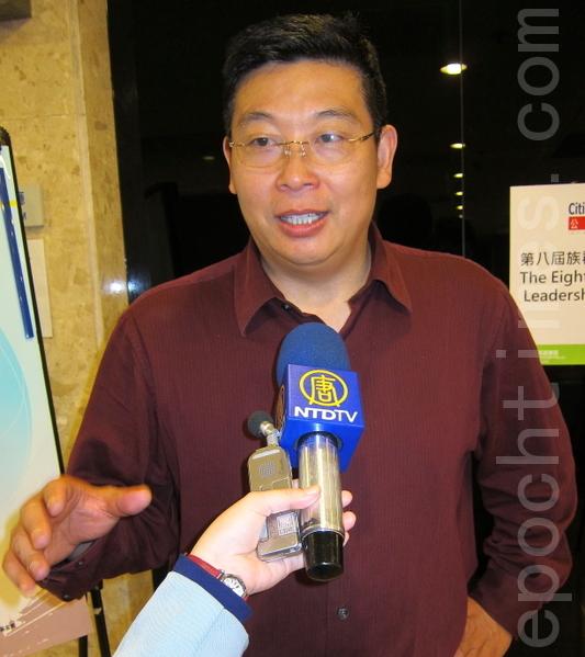 公民力量創辦人楊建利博士。(攝影:鍾元/大紀元)