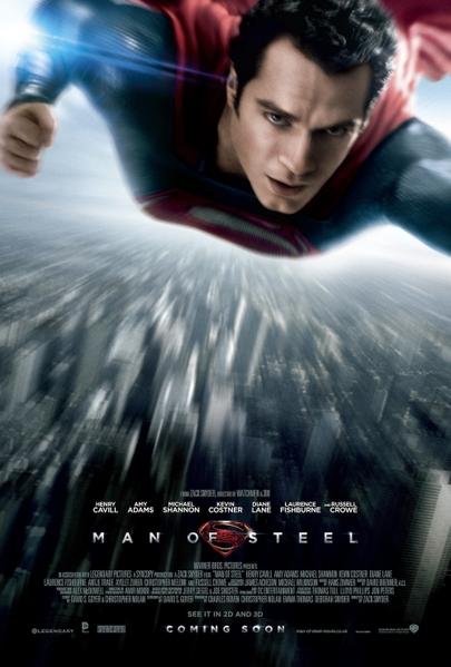 《超人:鋼鐵英雄》正式海報亮相。(圖/華納兄弟提供)