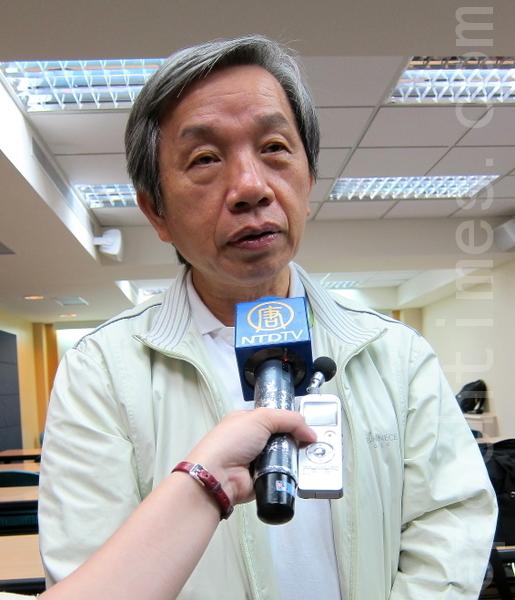 台湾教授协会前会长张炎宪。(摄影:钟元/大纪元)