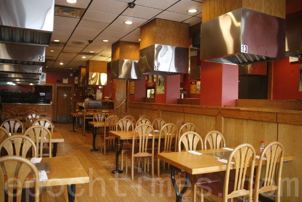 宽敞、明亮、温馨、洁净的中华饭店。(摄影:爱德华/大纪元)