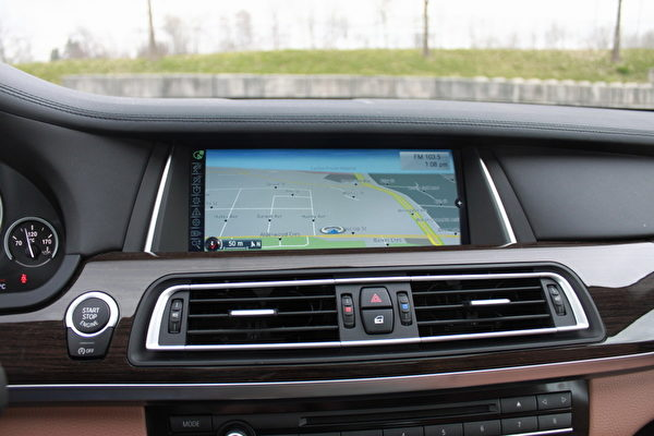 BMW的iDrive系統。(攝影:李奧/大紀元)