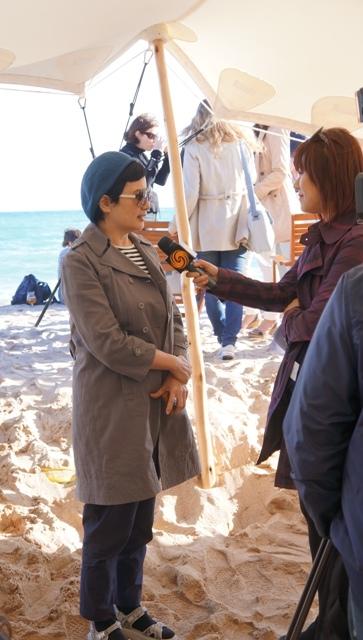 《台北工廠》監製李烈接受媒體訪問。(圖/台北市電影委員會提供)