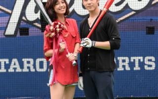 胡宇威陈庭妮再携手 为新戏苦练棒球打击