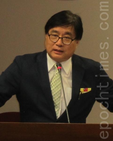 台灣關懷中國人權聯盟理事長楊憲宏。(攝影:鍾元/大紀元)
