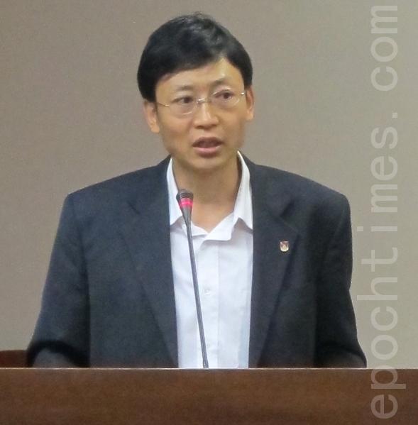 在台藏人福利協會秘書長索朗。(攝影:鍾元/大紀元)