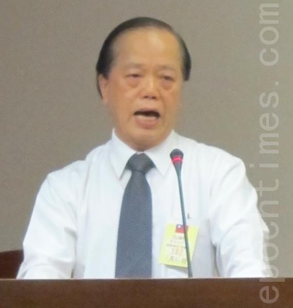 中華人權協會理事長蘇友辰。(攝影:鍾元/大紀元)