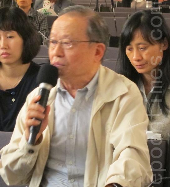 台湾投资中国受害者协会理事长高为邦博士。(摄影:钟元 / 大纪元)