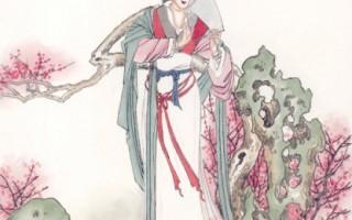 """唐僖宗时,宫女韩氏在红叶上题下""""流水何太急,深宫尽日闲。殷勤谢红叶,好去到人间""""发展出一段佳缘。(大纪元资料图片)"""