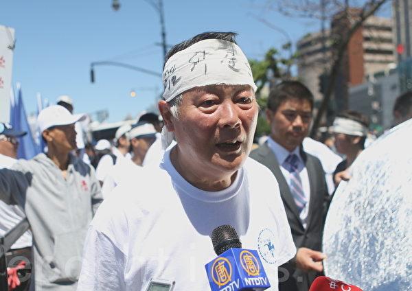 魏京生呼吁奥巴马政府向习近平质问杜斌下落、提出中国劳教制度问题,而且呼吁每一个人都发声关心这些为社会作出牺牲的人。(摄影:杜国辉/大纪元)