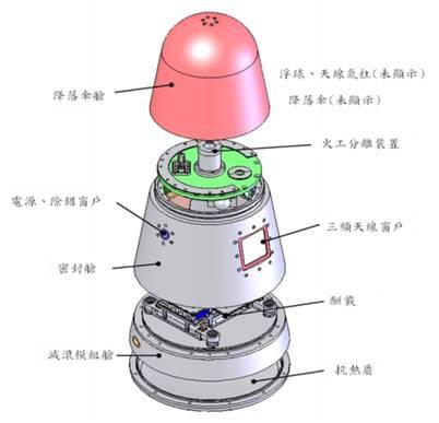 科學儀器回收艙。(中華民國國家實驗研究院太空中心提供)