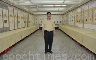 王宏武〈阿豪〉来到树林镇南宫展出。(摄影:宋顺澈/大纪元)